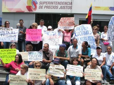 LOS BARUTEÑOS EXIGIERON SU DERECHO A LA ALIMENTACIÓN