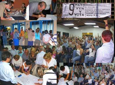 9 Mayo 2007. Elección realizada del Comité Promotor Permanente y Comité Electoral del Consejo Comunal de Chuao a elegirse