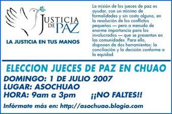 Elecciones de Jueces de Paz en Chuao