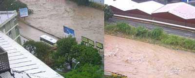 Guaire se desborda